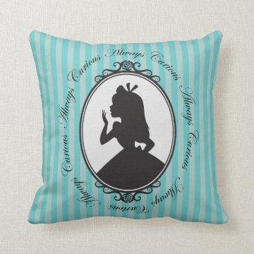 Disney Themed Alice | Always Curious Throw Pillow