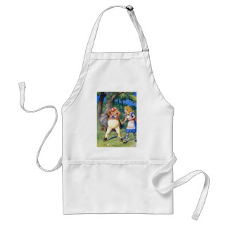 Alice and an angry Tweedledum in Wonderland Adult Apron