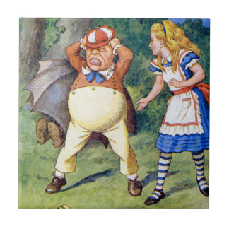 Alice and an angry Tweedledum in Wonderland Tile