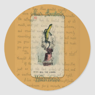 Alice and Bill the Lizard Classic Round Sticker