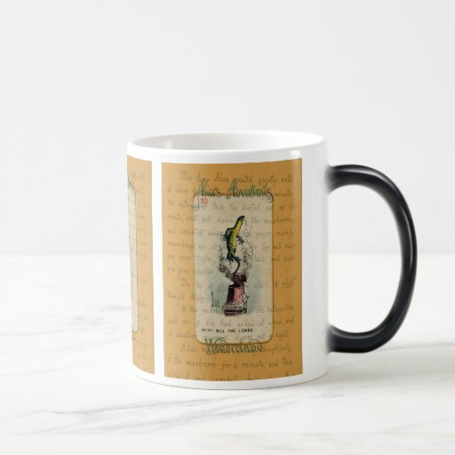 Alice and Bill the Lizard Morphing Mug