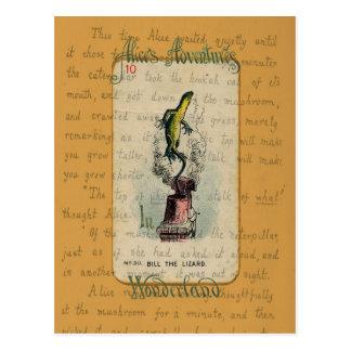 Alice and Bill the Lizard Postcard