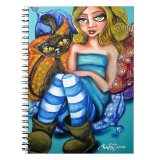 Alice and Cat Spiral Note Books