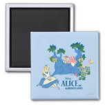 Alice and Cheshire Cat 2 Inch Square Magnet