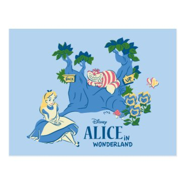 Disney Themed Alice and Cheshire Cat Postcard