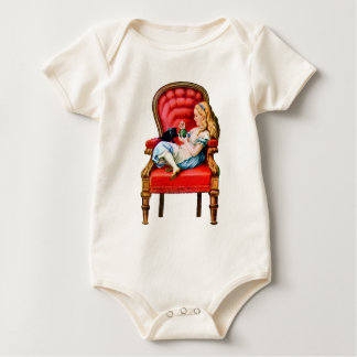 Alice and Dinah from Through The Looking Glass Baby Bodysuit