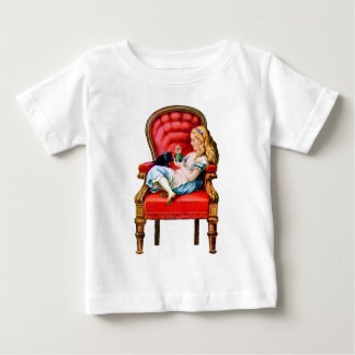 Alice and Dinah from Through The Looking Glass Baby T-Shirt