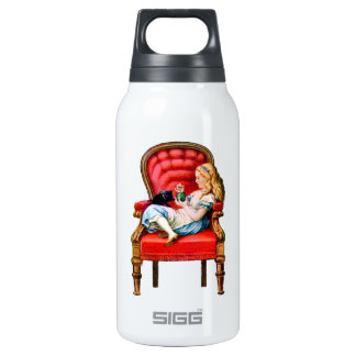 Alice and Dinah from Through The Looking Glass Insulated Water Bottle