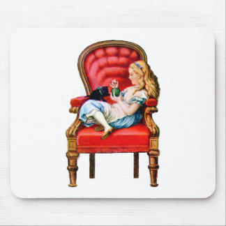 Alice and Dinah from Through The Looking Glass Mouse Pad