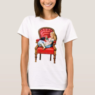 Alice and Dinah from Through The Looking Glass T-Shirt