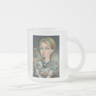 Alice and Dodo Frosted Glass Coffee Mug