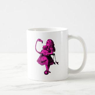 Alice and Flamingo Inked Pink Fill Coffee Mug