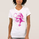 Alice and Flamingo Inked Pink Tank Top