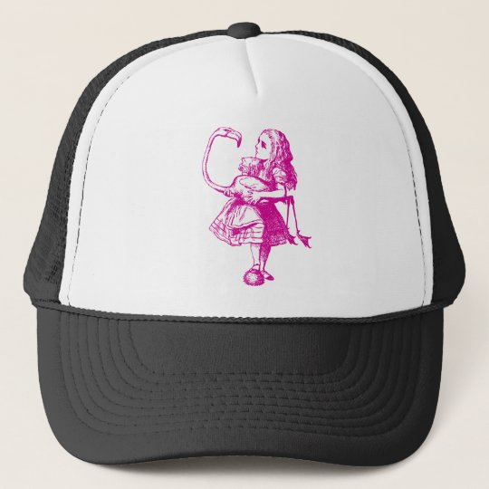 Alice and Flamingo Inked Pink Trucker Hat
