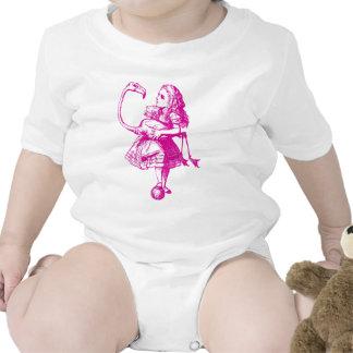 Alice and Flamingo Inked Pink Baby Bodysuit