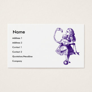 Alice and Flamingo Inked Purple Business Card