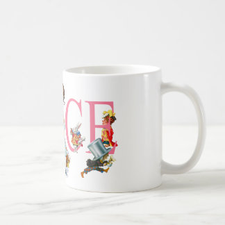 ALICE AND FRIENDS FROM WONDERLAND COFFEE MUG