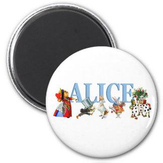 Alice and Friends in Wonderland 2 Inch Round Magnet