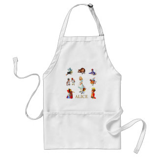 Alice and Friends in Wonderland Adult Apron