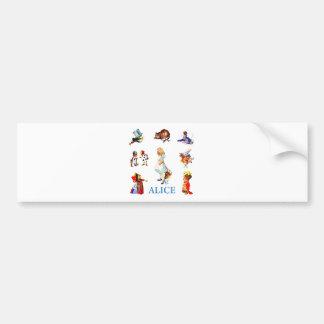 Alice and Friends in Wonderland Bumper Sticker