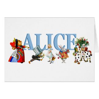 Alice and Friends in Wonderland Greeting Card