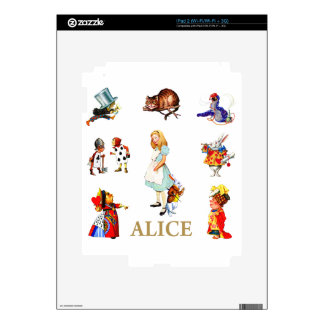 Alice and Friends in Wonderland Decal For iPad 2