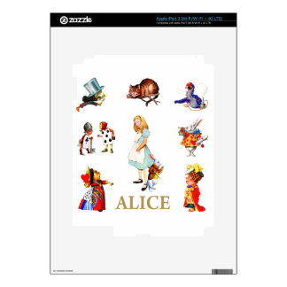 Alice and Friends in Wonderland Decal For iPad 3