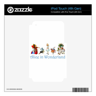 Alice and Friends in Wonderland Decal For iPod Touch 4G