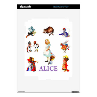 Alice And Friends In Wonderland Decals For iPad 2
