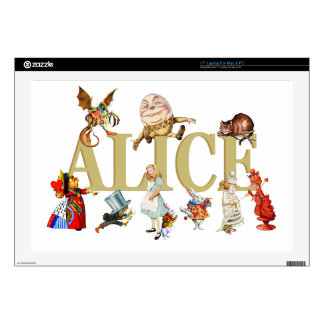 Alice and Friends in Wonderland Decals For Laptops