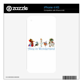 Alice and Friends in Wonderland Decals For The iPhone 4