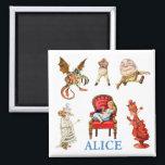 """Alice and Friends in Wonderland Magnet<br><div class=""""desc"""">Alice and Friends in Wonderland</div>"""
