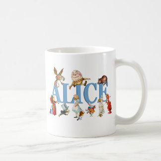Alice and Friends in Wonderland Coffee Mugs