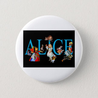 ALICE AND FRIENDS IN WONDERLAND PINBACK BUTTON