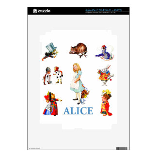 Alice and Friends in Wonderland Skins For iPad 3
