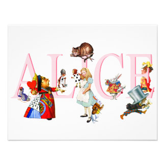 ALICE AND FRIENDS PERSONALIZED INVITATION