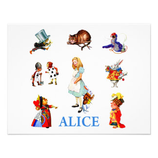 ALICE AND FRIENDS PERSONALIZED ANNOUNCEMENTS