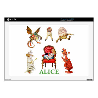"""Alice and Friends Through The Looking Glass 17"""" Laptop Decal"""