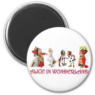 ALICE AND FRINEDS IN WONDERLAND 2 INCH ROUND MAGNET