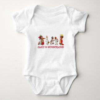ALICE AND FRINEDS IN WONDERLAND BABY BODYSUIT