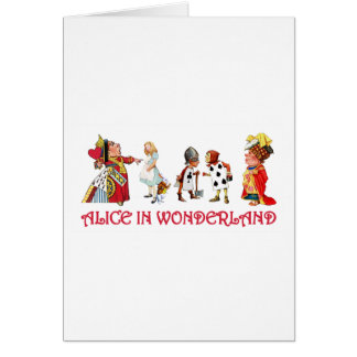 ALICE AND FRINEDS IN WONDERLAND CARD
