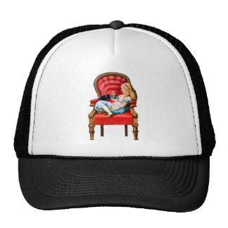 Alice and Her Cat Dinah in the Big Red Chair Trucker Hat