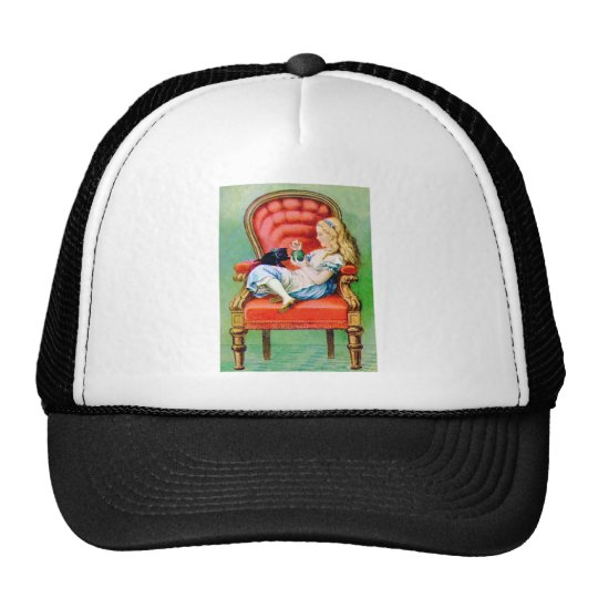 ALICE AND HER CAT, DINAH TRUCKER HAT