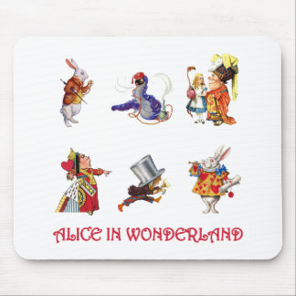 ALICE AND HER FRIENDS FROM WONDERLAND MOUSE PAD