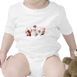 ALICE AND HER FRIENDS IN WONDERLAND ROMPERS