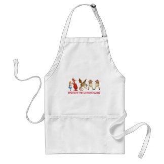 ALICE AND HER FRIENDS THROUGH THE LOOKING GLASS APRONS