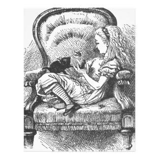 Alice and her Kitten Letterhead