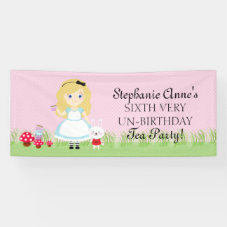 Alice and Her Tea Party Banner
