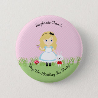 Alice and Her Tea Party Button