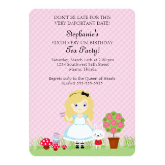 Alice and Her Tea Party Card